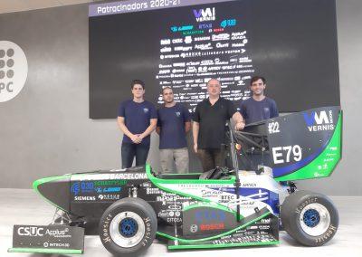 VERNIS un año más colabora con e-Tech racing